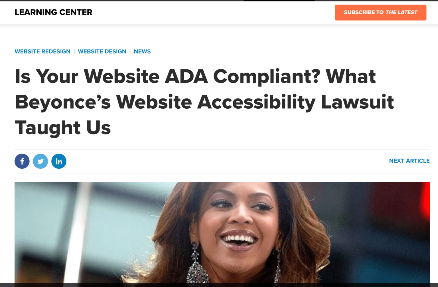 What Beyonce's Accessibility Lawsuit Taught Us